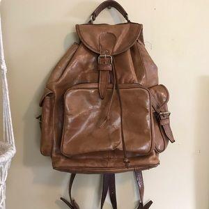 Handbags - Vintage Large Leather Buckle Bookbag